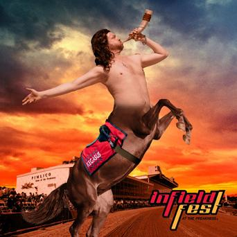 """The Maryland Jockey Club unveiled March 29 its """"Be Legendary"""" promotional campaign for the 136th Preakness Stakes. The campaign features the half-man, half-horse """"Kegasus."""""""