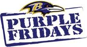 """Jos. A. Bank has signed on a new sponsor of the Ravens' """"Purple Fridays"""" promotion."""