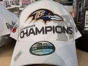 An AFC Championship hat.