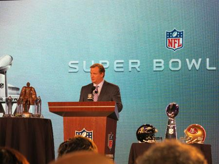 "NFL Commissioner Roger Goodell said the Super Bowl match-up between the Baltimore Ravens and the San Francisco 49ers ""has it all."""