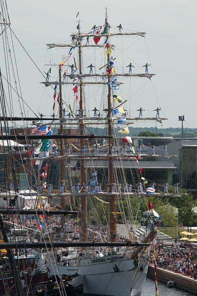 The week-long Star-Spangled Sailabration in June featured tall ships from across the world and a Blue Angels air show.