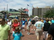 Thousands of tourists strolled the Inner Harbor on Sunday for the Star-Spangled Sailabration.