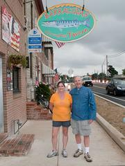 Bart (right) and Kim Ledergerber said the Sailabration brought in four times as much business for Barracudas Tavern this weekend.