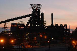 Sparrows Point steel mill, blast furnace.
