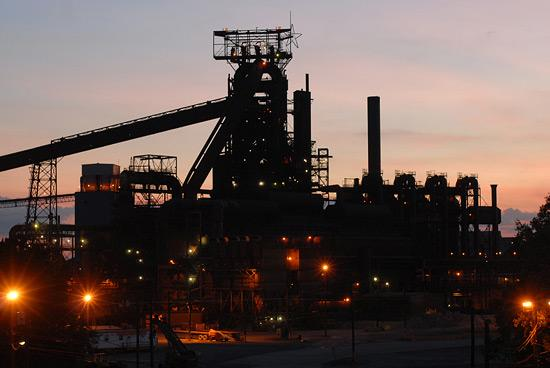 The blast furnace in Sparrows Point.