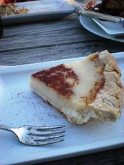 Indianapolis' signature dessert: Hoosier Sugar Cream Pie. The name says it all.