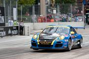 Marc Bunting's No. 66 Porsche 911 GT3 Cup during last year's American Le Mans race in Baltimore.