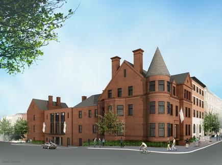 An artist's rendering of the Ivy in Mount Vernon. The left side of the project will be added to the Inn at Government House, which anchors the site.