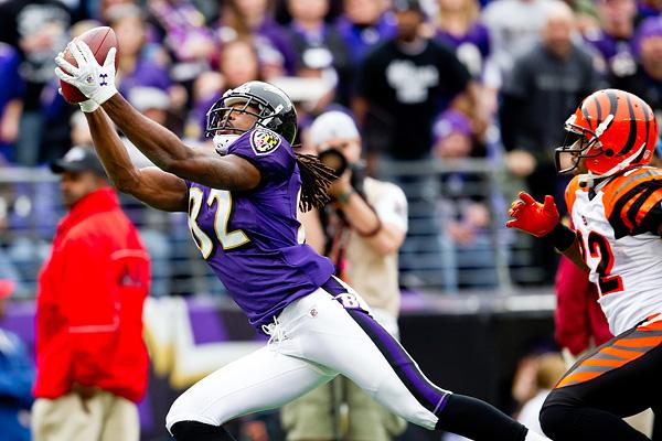 Torrey Smith and the Ravens will host a home playoff game on Jan. 15.
