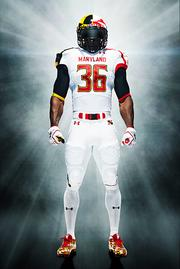 "The University of Maryland debuted their ""Maryland Pride"" jerseys by Under Armour on Monday night versus the Miami Hurricanes."