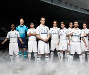 Under Armour on Thursday unveiled new jerseys for the Tottenham Hotspur soccer club. Above, the team in all-white home jerseys.