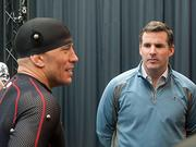 Under Armour CEO Kevin A. Plank on Tuesday with Georges St-Pierre, a Canadian professional mixed martial artist.