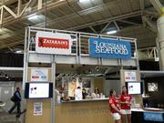 Zatarain's set up a booth in the media center during Super Bowl week.