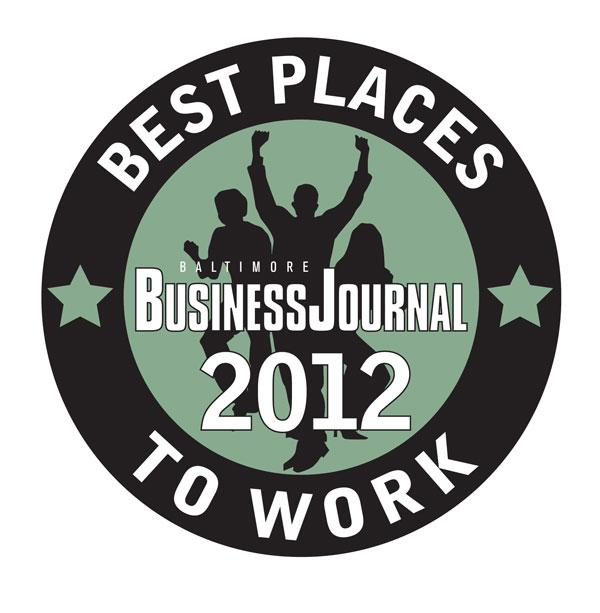 The Baltimore Business Journal's 2012 Best Places to Work will be unveiled on September 20.