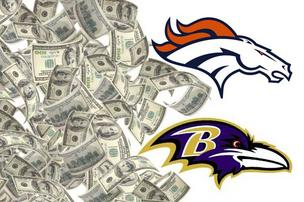The Ravens-Broncos Divisional Round game is commanding top advertising dollars for Baltimore television and radio affiliates carrying the game.