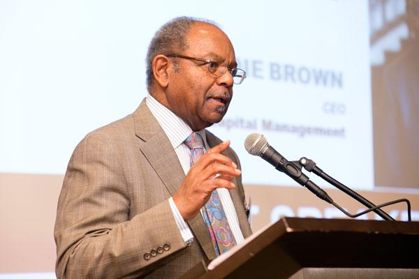 Eddie C. Brown speaks to a crowd on Thursday at the Baltimore Business Journal's Diversity in Business luncheon.