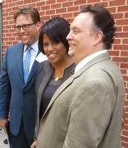 Everyman Theatre Managing Director Ian Tresselt, Mayor Stephanie Rawlings-Blake and Artistic Director Vince Lancisi pose for the cameras.
