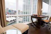 The view from a 14th floor suite at the Four Seasons Hotel Baltimore in Harbor East.