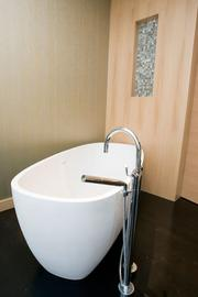 A tub in a treatment room at the Four Seasons Hotel Baltimore.