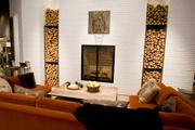 The fireplace at the Four Seasons Hotel Baltimore's restaurant, Wit & Wisdom by celebrity chef Michael Mina.