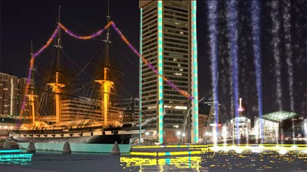 The Greater Baltimore Committee Has Proposed Creating A Light And Water Show  At The Inner Harbor