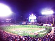 Oriole Park turned into a sea of orange during Game 1 of the ALDS on Sunday night.