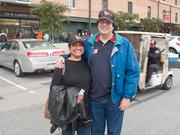 Brenda and Chris Wells drove up from Danville, Va. for Sunday's game.