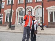 Darby Subotich Sr. and his 11-year old sonDarby Subotich Jr., who was not around the last time the Orioles made the playoffs.