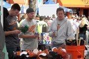 Fans stock up on Orioles gear.