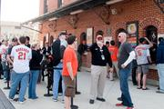 Fans line up for will-call tickets at Oriole Park at Camden Yards.