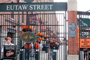 Oriole Park was decked out in orange and black finery — and balloons —for the Orioles home opener against the Detroit Tigers.