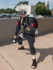 An Otakon attendeedressed as a Ninja.