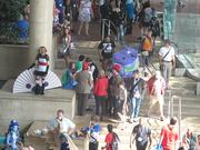 Crowds gather Friday morning in the Baltimore Convention Center for Otakon 2012.