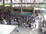 Crowds began to gather Friday at the Baltimore Convention Center for Otakon 2012.