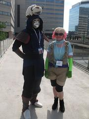 """From left to right: Otakon 2012 attendees dressed as """"Pascal"""" from """"Tales of Graces;"""" and """"Amon"""" from """"Legend of Korra."""""""