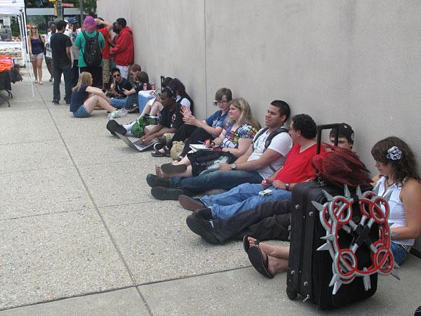 Crowds started to lineup Thursday outside the Baltimore Convention Center for the start of Otakon.