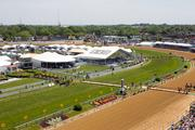Corporate tents, including one purchased by Under Armour, lined the Pimlico infield on Preakness day.
