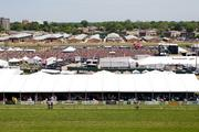 A record 121,300 people filled hospitality tents and the infield for the 137th running of the Preakness at Pimlico Race Course in Baltimore on May 19.