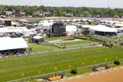 The winner's circle at Pimlico Race Course on Preakness day.
