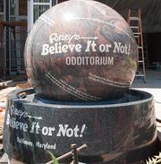 A sign outside Ripley's Believe It or Not!'s new Inner Harbor museum.