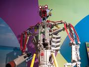 A junk art robot at Ripley's Believe It or Not's new Baltimore museum. The kinetic sculpture lights up and moves.
