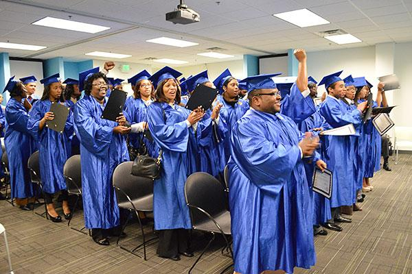 Just 39 of the original 104 people who enrolled in the most recent STRIVE program made it to graduation.