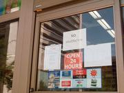 A Royal Farms along Light Street, typically open 24 hours, was closed on Tuesday due to no running water.