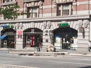 A 7-Eleven on Light Street was closed on Tuesday due to a nearby water main break. On Tuesday morning, the whole caused by the break was still being repaired.