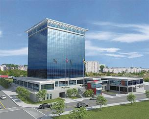 An artist's rendering of plans for Towson's City Center.