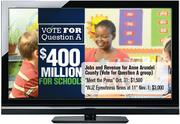 "Jobs and Revenue for Anne Arundel County TV ad (Vote for Question A group): Cost during ""Meet the Press"" on Oct. 31: $1,500 Cost during ""WJZ Eyewitness News at 11"" on Nov. 1: $3,000"