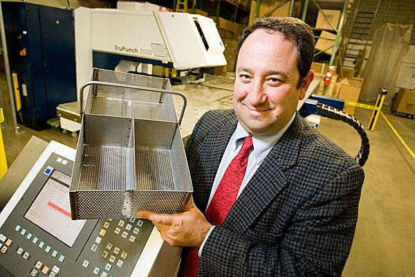 Drew Greenblatt is worried his Marlin Steel Wire Products may have to pay a higher interest rate on loans to buy new equipment.