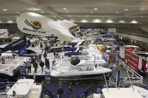 A photo from the annual boat show held at the Baltimore Convention Center.