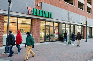 7-Eleven opened this store at Market Place in downtown Baltimore in December 2010.