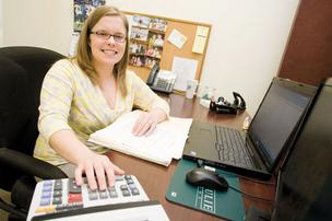 Stacey Mosser, a CPA at Hertzbach & Co., loves working with numbers and analyzing problems.
